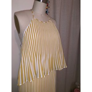Dolce Vita 🍨 Yellow Cabana 🌴 Striped Dress
